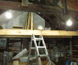 Installing CHEAP! Hanging LED Lights to Brighten a Work Space