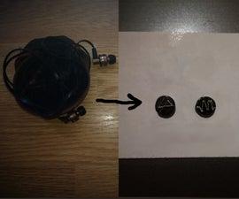 Magnet Earrings Out of Headphones