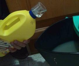 Bottle bleach dispenser