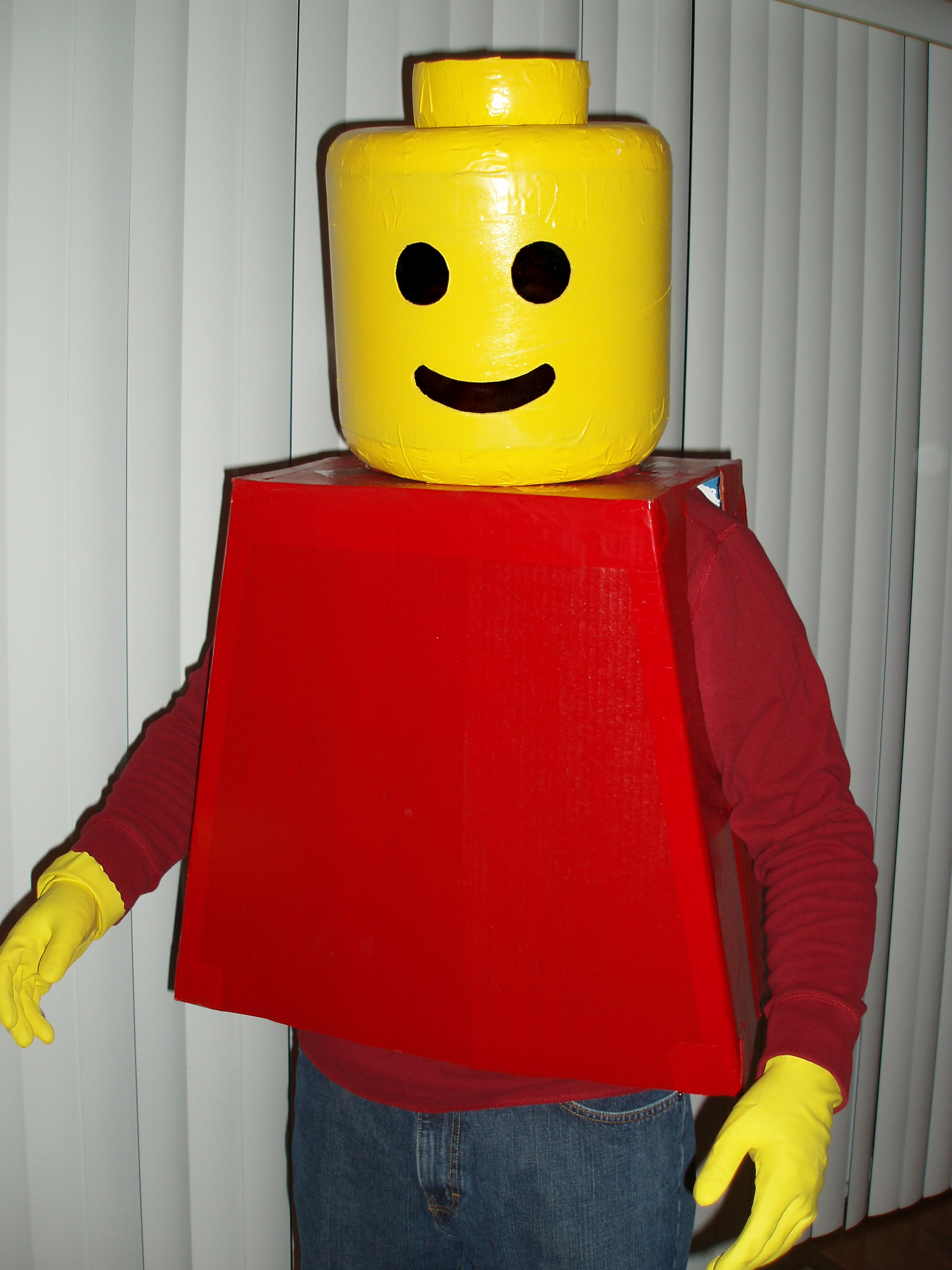 Lego Man Halloween Costume.Lego Man Costume 8 Steps With Pictures