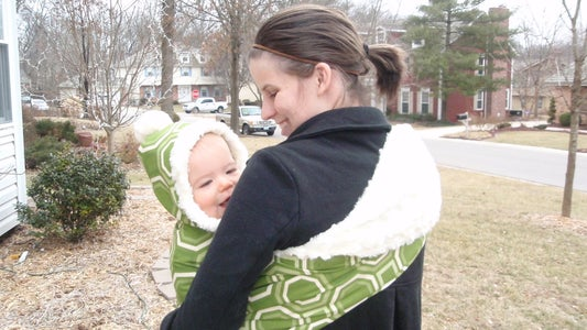 The Fox Hole, a Hooded Winter Baby Sling
