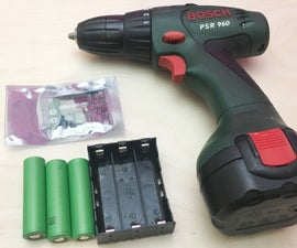 Drill Battery Rebuild - NiCd to Lithium