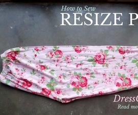 Resize Pajama Pants