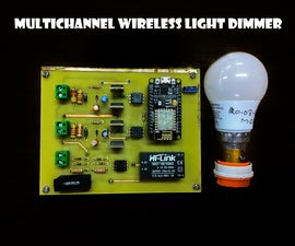 Multichannel Wireless Light Dimmer