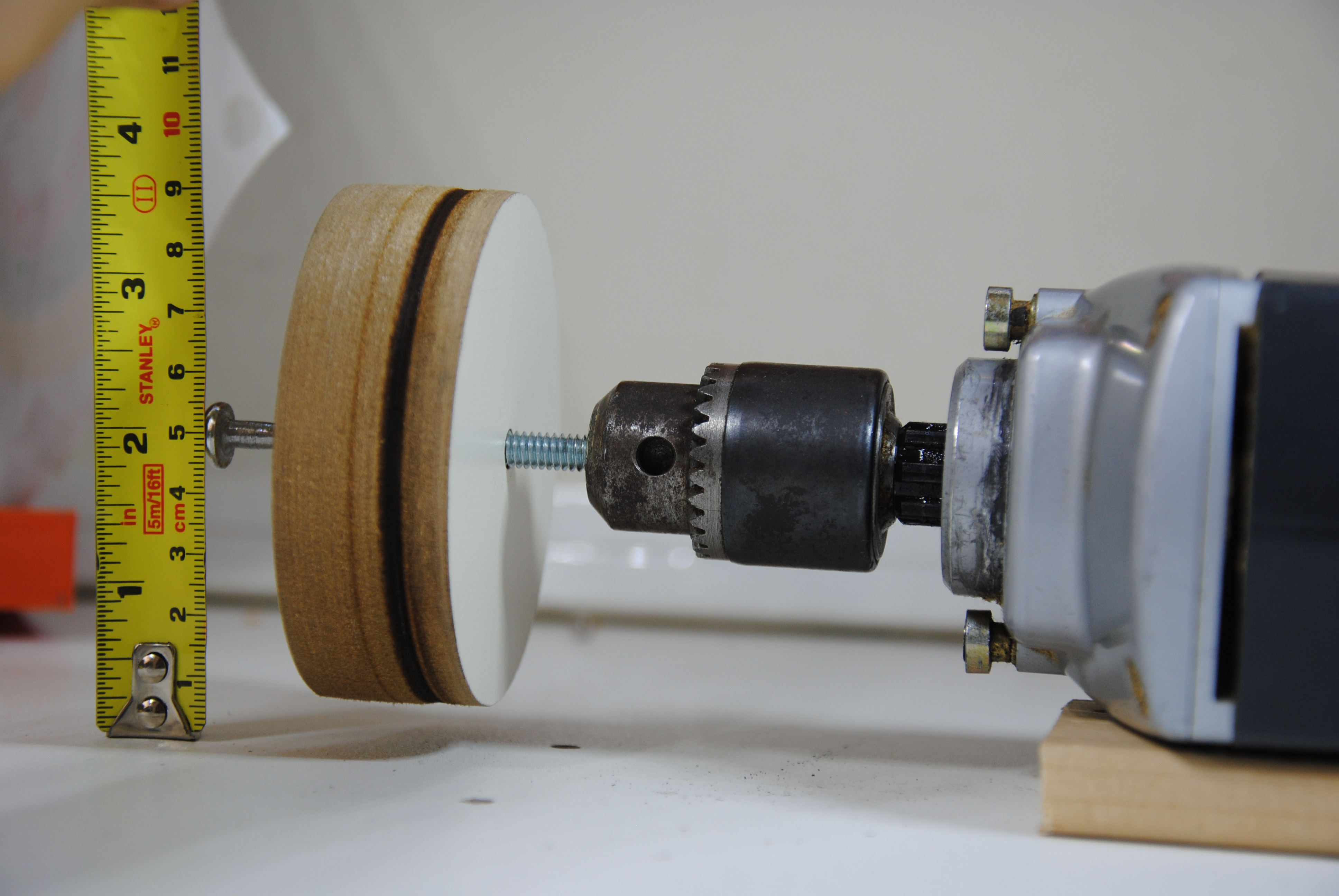 Picture of Measure, & Drill a Hole for the Wooden Bushing