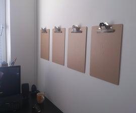 wall organisation clipboards