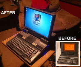 Toshiba T3200SX Portable Desktop Computer