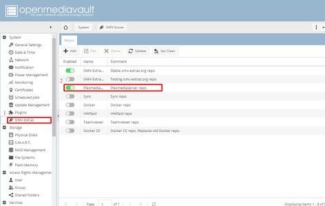 OpenMediaVault - Software