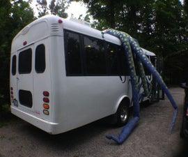 Inflatable Kraken Tentacles - a bus puppet
