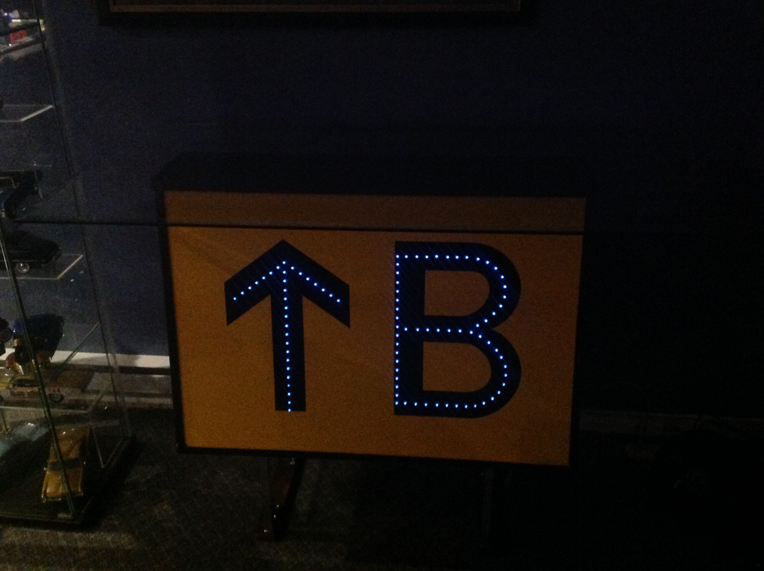 Picture of Airport Runway Sign Shelf Upcycle With Fiber Optic/LED Lighting