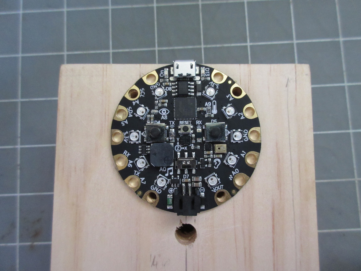 Picture of Mount the Circuit Playground Express.