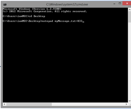 Hide Your Message Inside Text File (New Trick)