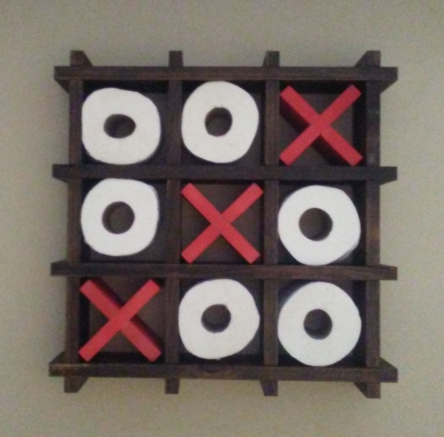 Picture of Tic Tac Toe Toilet Paper Holder