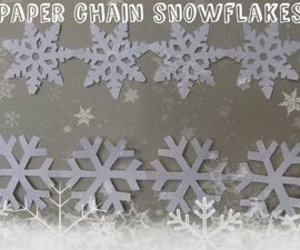 Paper Chain Snowflakes