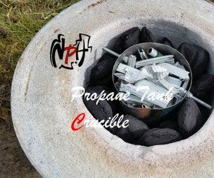 Small Propane Tank Crucible (No Weld)