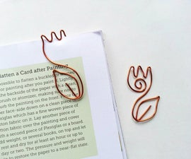 DIY Wire Tulip Bookmark