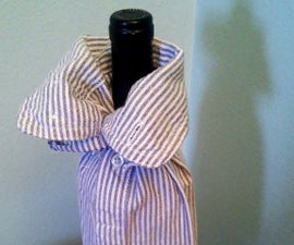 Wine Bottle Bag from Old Shirt Sleeve