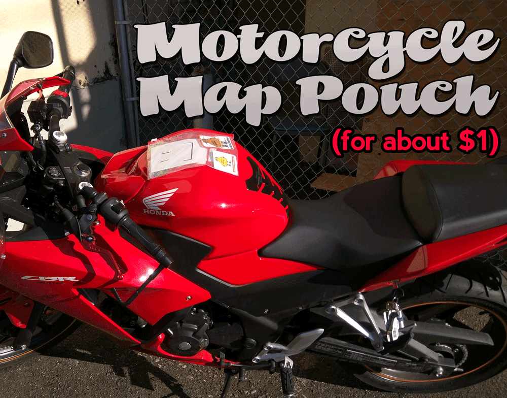 Picture of $1 Motorcycle Map Pouch