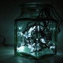 Star Jar Geiger counter triggered LED decoration (2012 remix)