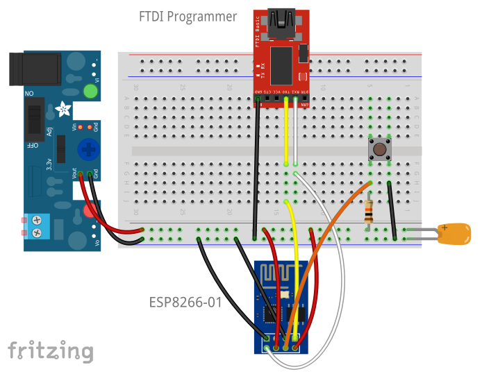 Picture of Firmware Flashing Breadboard