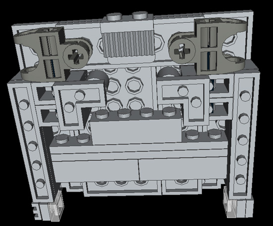Picture of Domaster's Torso, Arms, & Head (including Dot Matrix Screen)