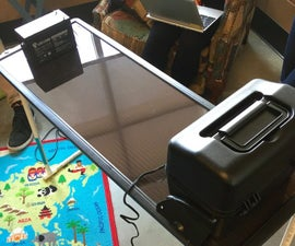 How to make a solar power table