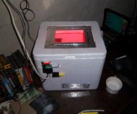 Foam cooler egg incubator