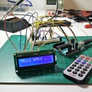 Send Text to Arduino with IR Remote Control