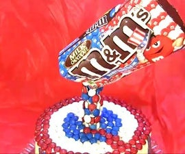 How to Make an M&M Anti Gravity Cake