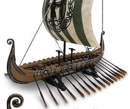 Viking ship in a bottle