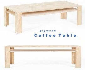 Simple Plywood Screwed-Up Coffee Table