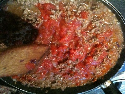 Add the Tomato and Sauce Ingredients