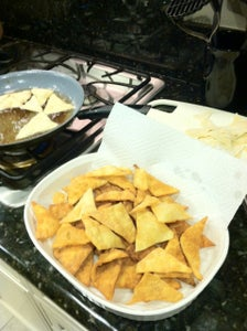 Frying the Pasta Chips