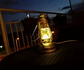 How to turn your oil lantern in to an led lantern