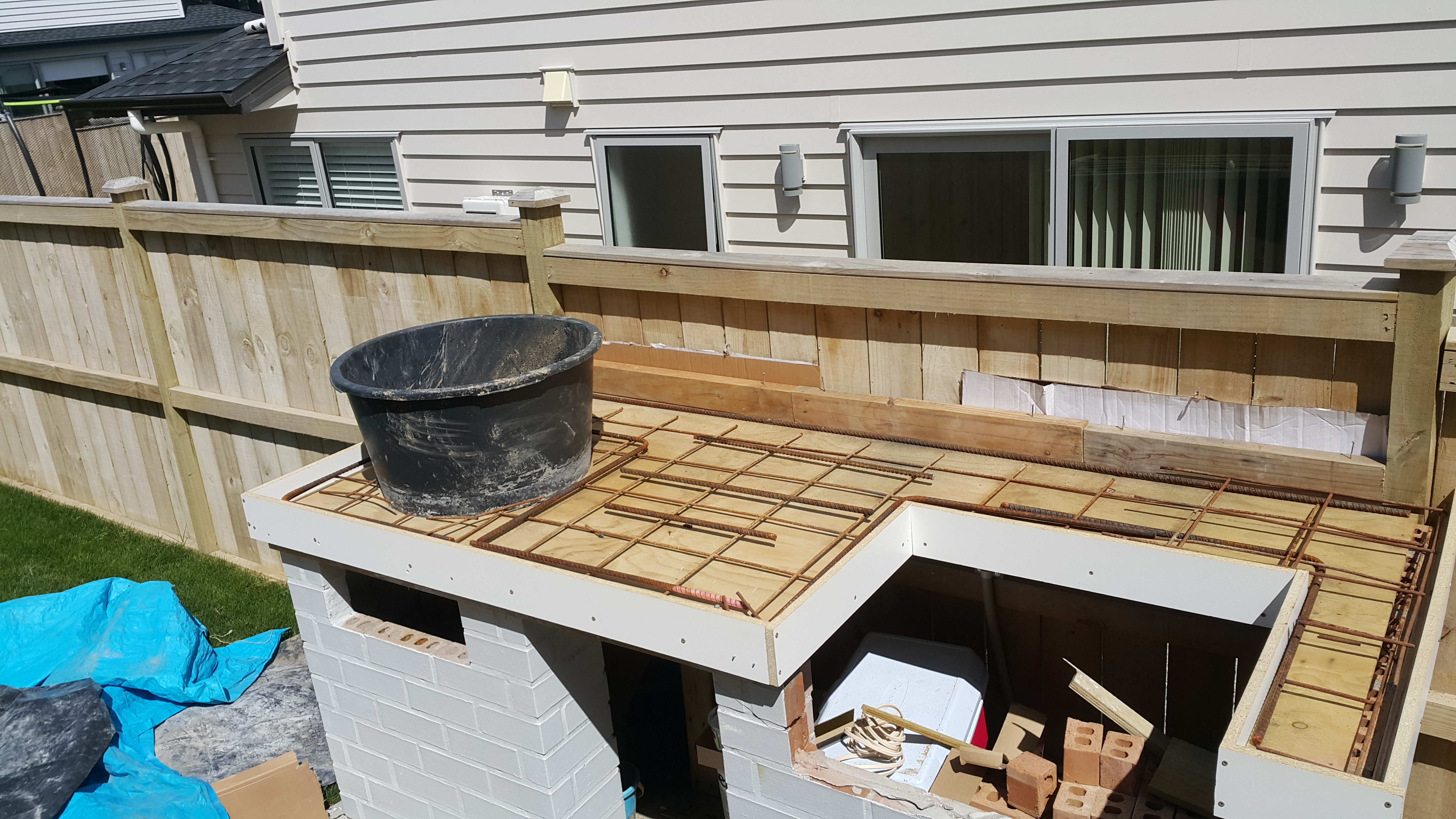 Picture of Build the Concrete Form for the Bench Top