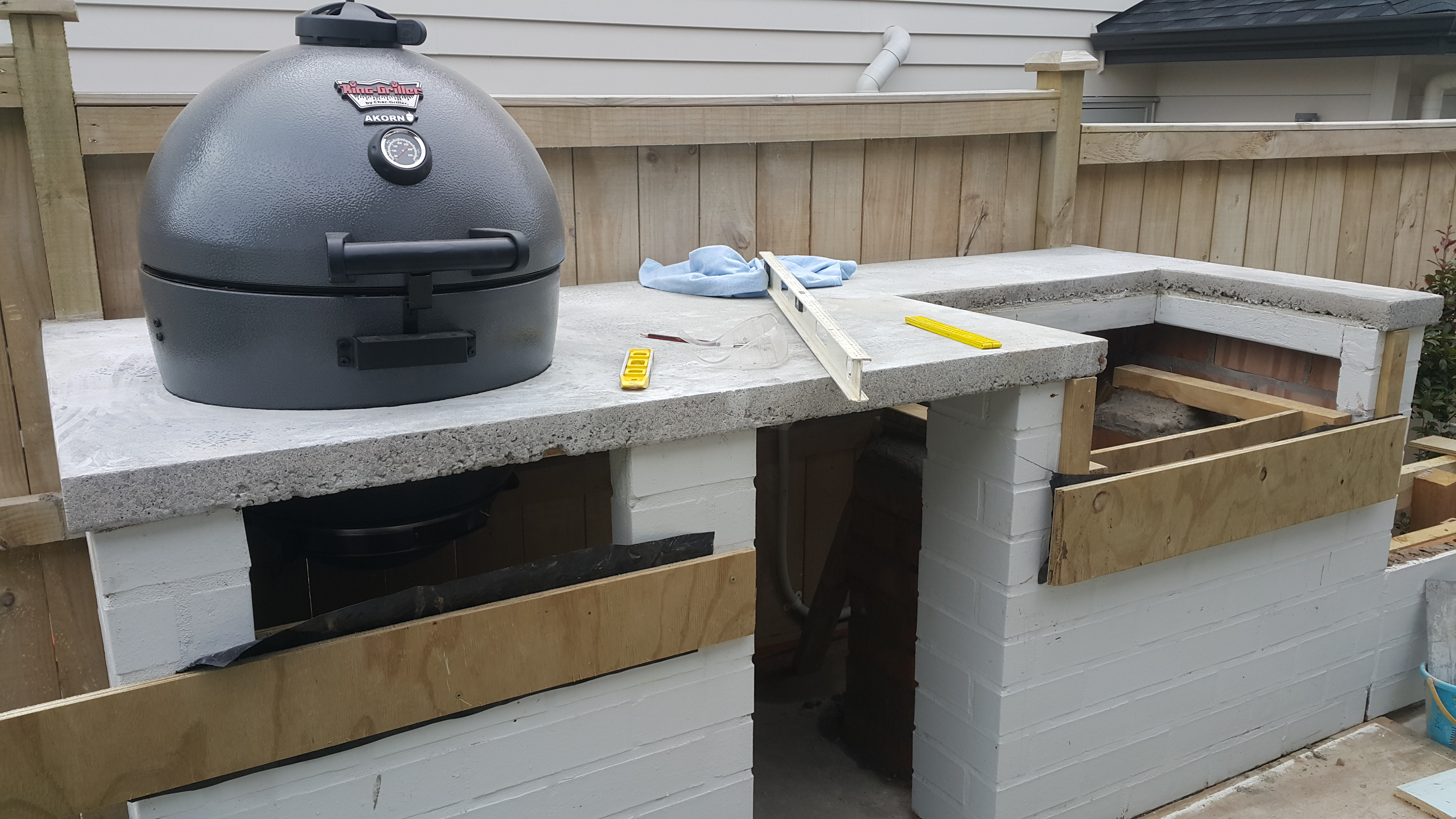 Picture of Add Some Concrete Strips Below the BBQs (optional Step)