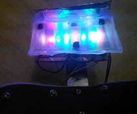Visor Mounted Multi-Colour LED Light Therapy Lamp