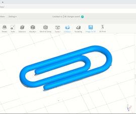 SelfCAD 3D Paper Clip