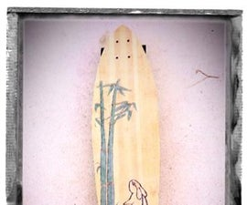 Longboard out of bamboo flooring planks