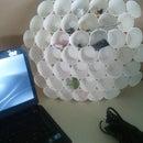 How to repurpose coffee cups into a cute desk organizer