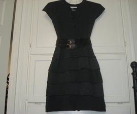 Thermal (Waffle) Ruffle Dress from Recycled Shirts