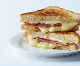 How to Make a Simple Grilled Ham & Cheese