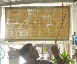 Roll Up Blinds From Bamboo Mat