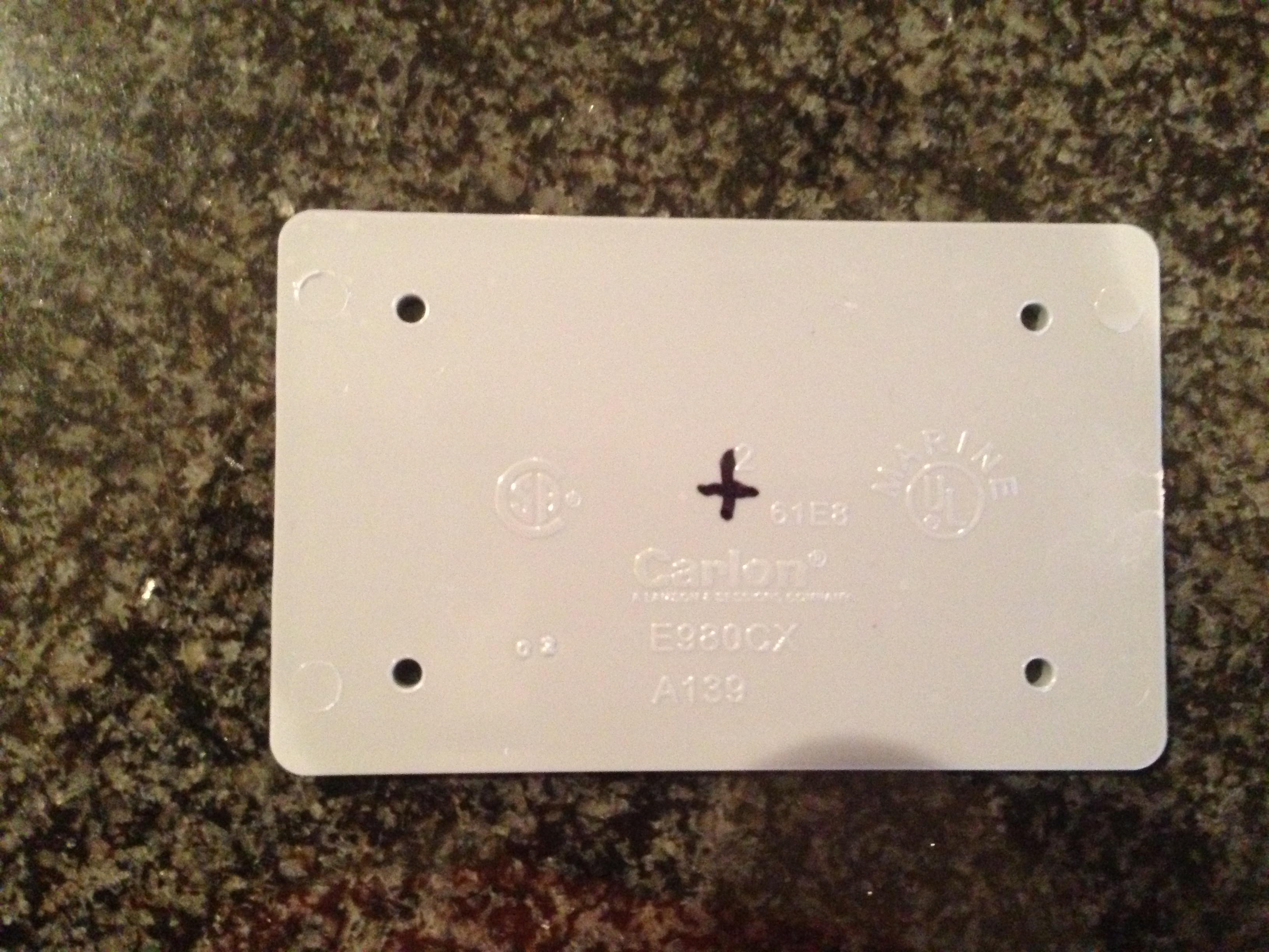 Picture of Measure and Cut the Plastic Blank Cover