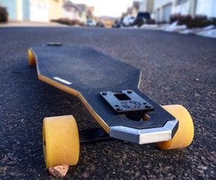 Plywood & Fiberglass Drop Through Longboard
