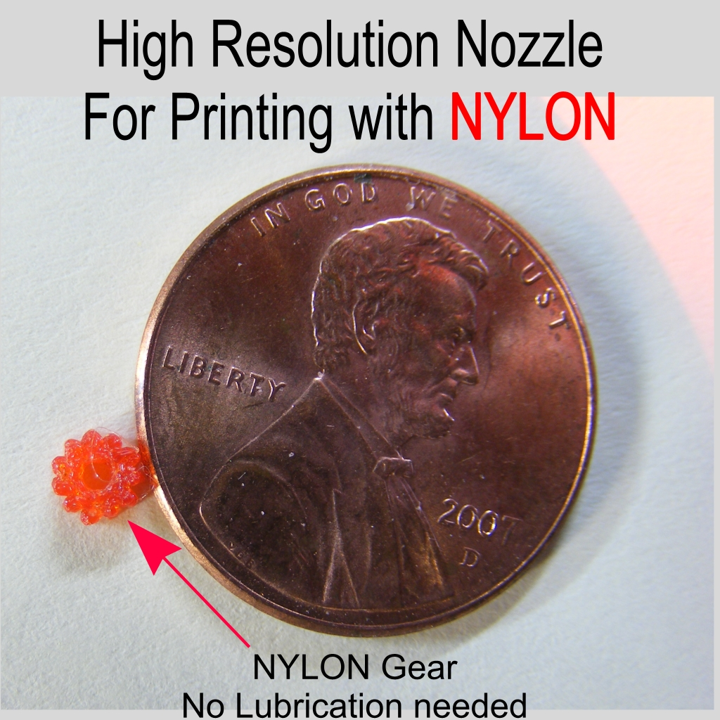 Picture of How to Make a High Resolution NYLON, ABS and PLA Nozzle for a 3D Printer.