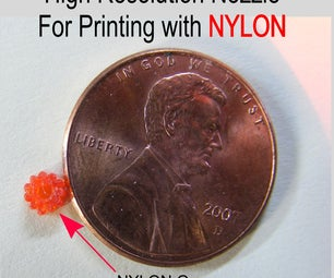 How to Make a High Resolution NYLON, ABS and PLA Nozzle for a 3D Printer.
