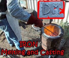 Iron Melting and Casting. Casting Iron Plaque
