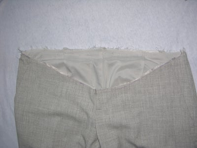 Remove Waist Band From Pants and Fix/trim the Front Line