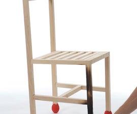 Giant match chair (La Pucelle) by Samuel Bernier